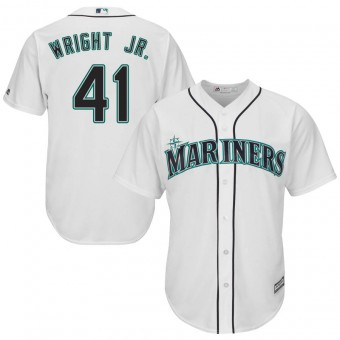 Men's Authentic Seattle Mariners #41 Mike Wright Jr. Majestic Cool Base Home White Jersey