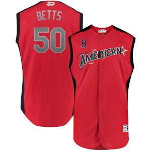 MLB American League 50 Mookie Betts Red 2019 All-Star Game Men Jersey