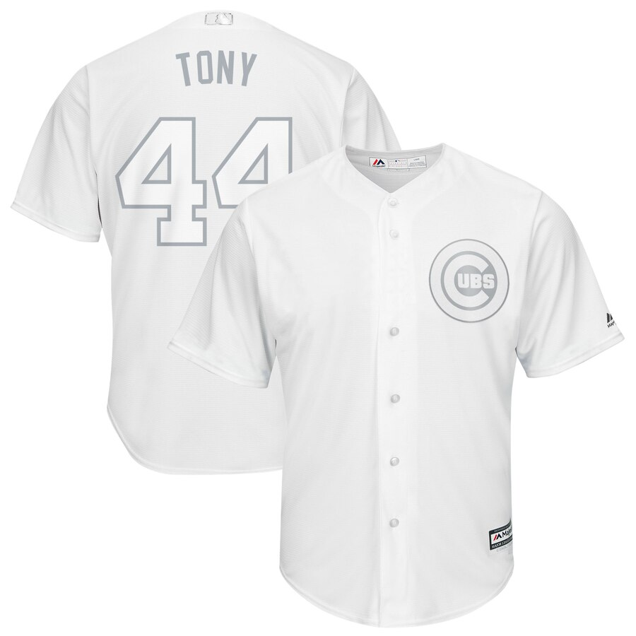 Men's Chicago Cubs 44 Anthony Rizzo Tony White 2019 Players' Weekend Player Jersey