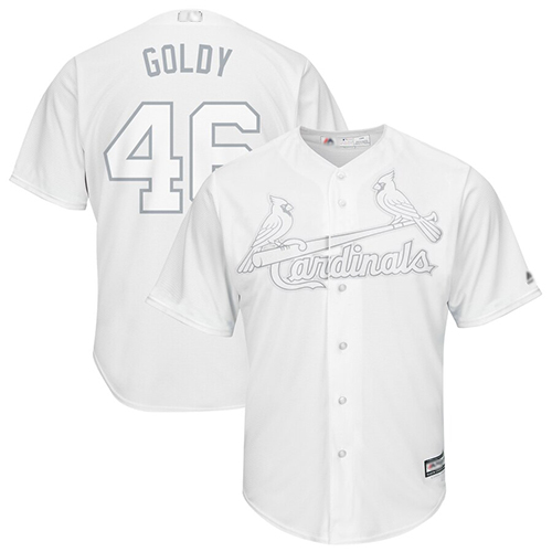 Cardinals #46 Paul Goldschmidt White Goldy Players Weekend Cool Base Stitched Baseball Jersey