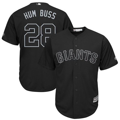Giants #28 Buster Posey Black Hum Buss Players Weekend Cool Base Stitched Baseball Jersey
