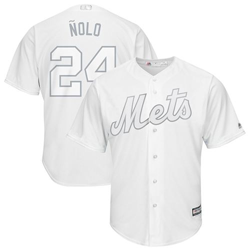 Mets #24 Robinson Cano White Nolo Players Weekend Cool Base Stitched Baseball Jersey