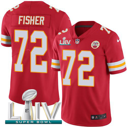 Nike Chiefs #72 Eric Fisher Red Super Bowl LIV 2020 Team Color Youth Stitched NFL Vapor Untouchable Limited Jersey