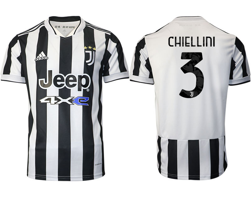 2021-22 Juventus home aaa version 3# CHIELLINI soccer jerseys