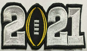 2021 College Football National Championship Game Jersey White Number Patch
