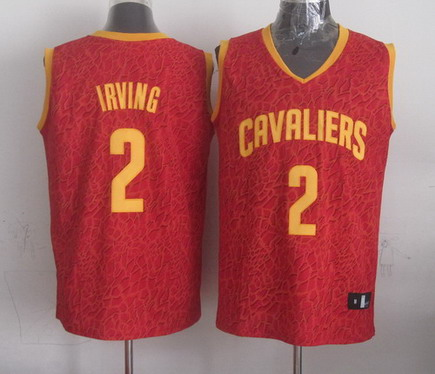 Cleveland Cavaliers  2 Kyrie Irving Red Leopard Print Fashion Jersey c0f9b6043