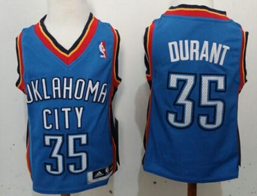 Oklahoma City Thunder #35 Kevin Durant Blue Toddlers Jersey