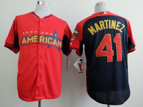Detroit Tigers #41 Victor Martinez 2014 All-Star Red Jersey