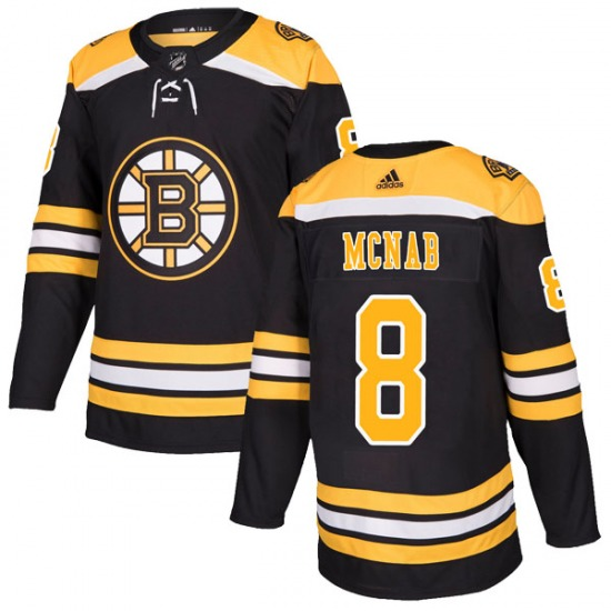 Adidas Boston Bruins #8 Peter Mcnab Black Home Authentic Stitched NHL Jersey