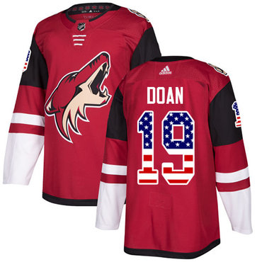 Adidas Coyotes #19 Shane Doan Maroon Home Authentic USA Flag Stitched NHL Jersey
