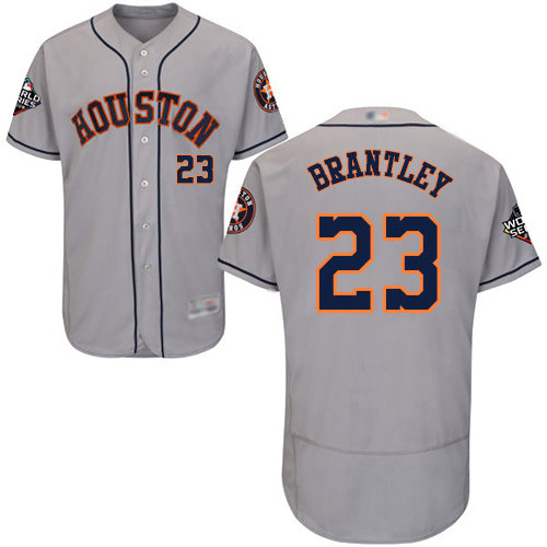 Astros #23 Michael Brantley Grey Flexbase Authentic Collection 2019 World Series Bound Stitched Baseball Jersey