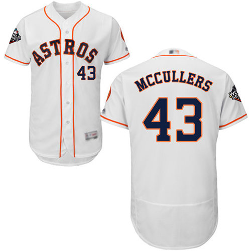Astros #43 Lance McCullers White Flexbase Authentic Collection 2019 World Series Bound Stitched Baseball Jersey