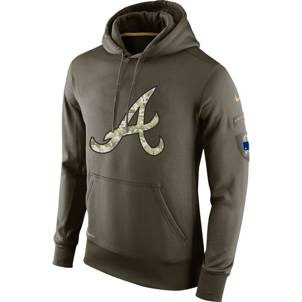 Athletics Olive Green Salute To Service Hoodie.