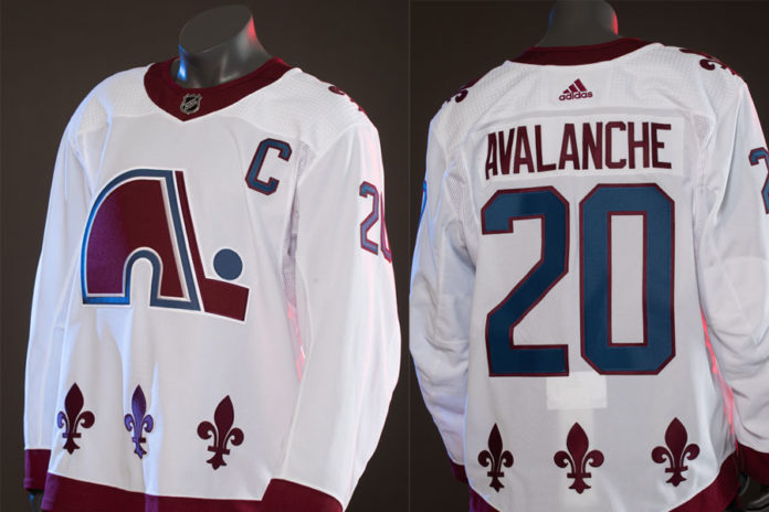 Avalanche's reverse retro jersey pays #20 homage to Nordiques NHL adidas jersey