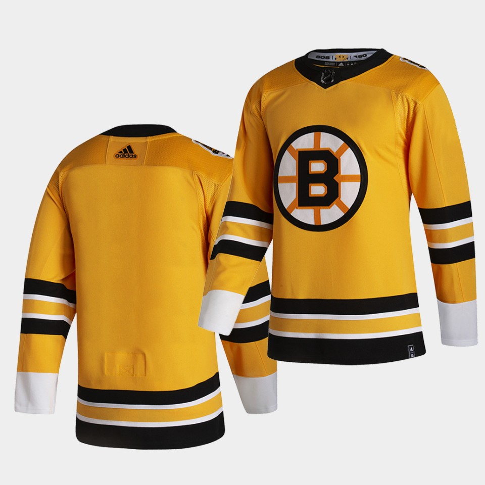 Boston Bruins Blank 2021 Reverse Retro Yellow Special Edition Authentic Jersey