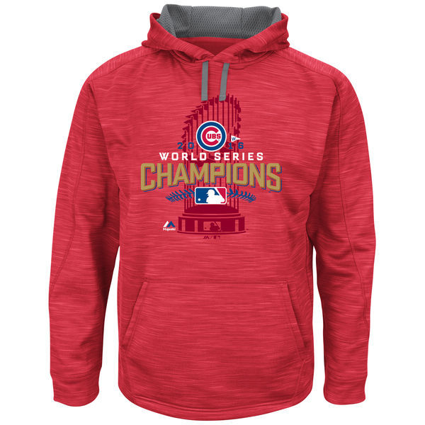 Chicago-Cubs-Scarlet-2016-World-Series-Champions-Men's-Pullover-Hoodie