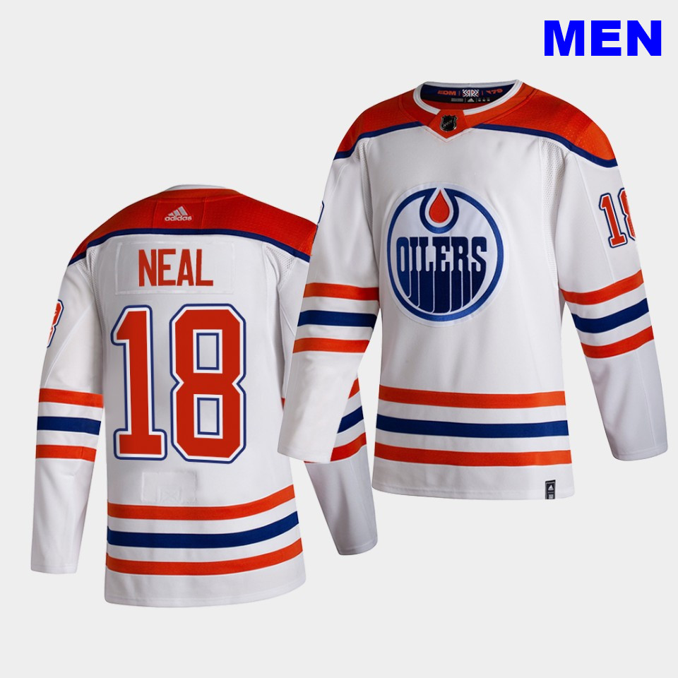 Edmonton Oilers #18 James Neal 2021 Reverse Retro White Special Edition Authentic Jersey