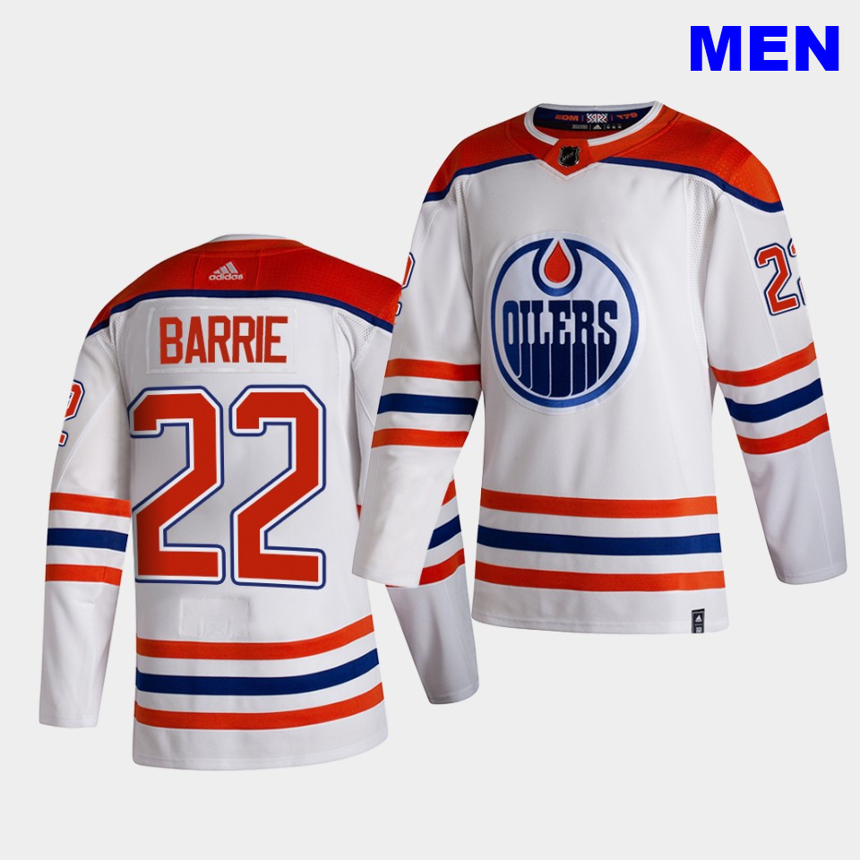 Edmonton Oilers #22 Tyson Barrie 2021 Reverse Retro White Special Edition Authentic Jersey