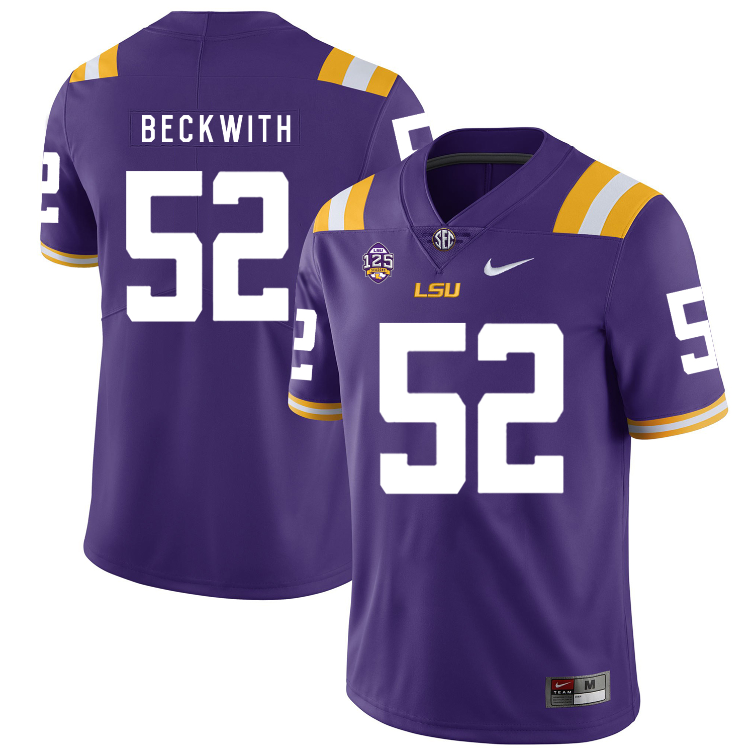 LSU Tigers 52 Kendell Beckwith Purple Nike College Football Jersey