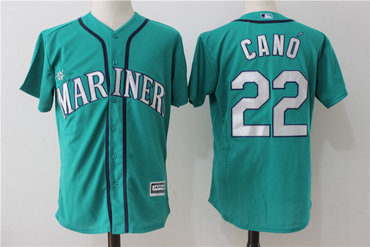 Mariners 22 Robinson Cano Northwest Green teal Alternate Cool Base Jersey
