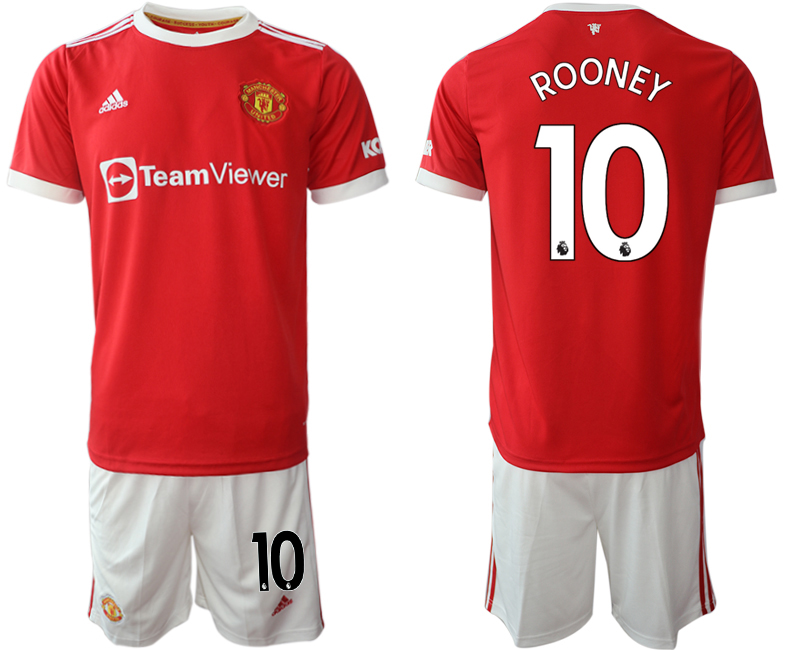 Men 2021-2022 Club Manchester United home red 10 Adidas Soccer Jerseys
