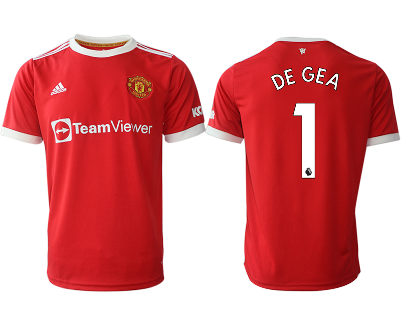 Men 2021-2022 Club Manchester United home red aaa version 1 Adidas Soccer Jersey