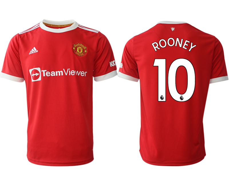 Men 2021-2022 Club Manchester United home red aaa version 10 Adidas Soccer Jersey