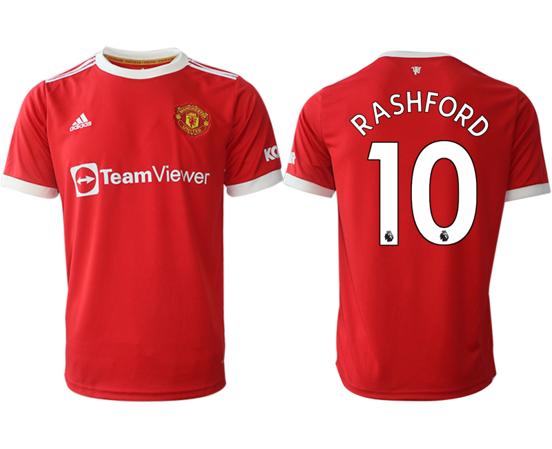 Men 2021-2022 Club Manchester United home red aaa version 10 Adidas Soccer Jerseys