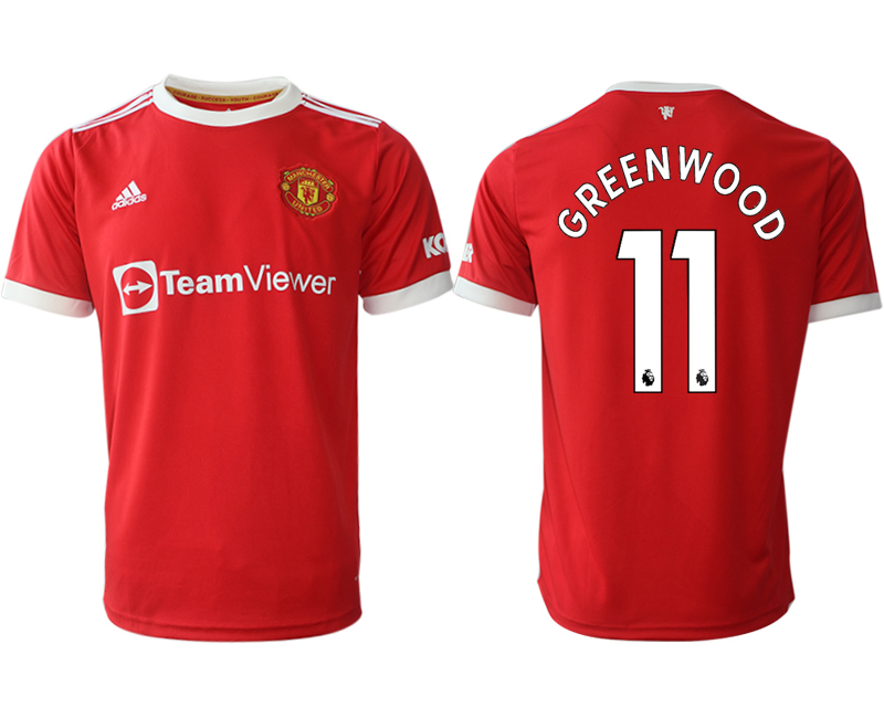 Men 2021-2022 Club Manchester United home red aaa version 11 Adidas Soccer Jersey