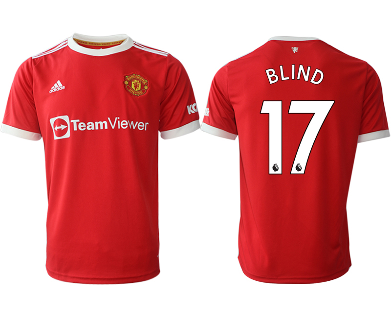 Men 2021-2022 Club Manchester United home red aaa version 17 Adidas Soccer Jersey