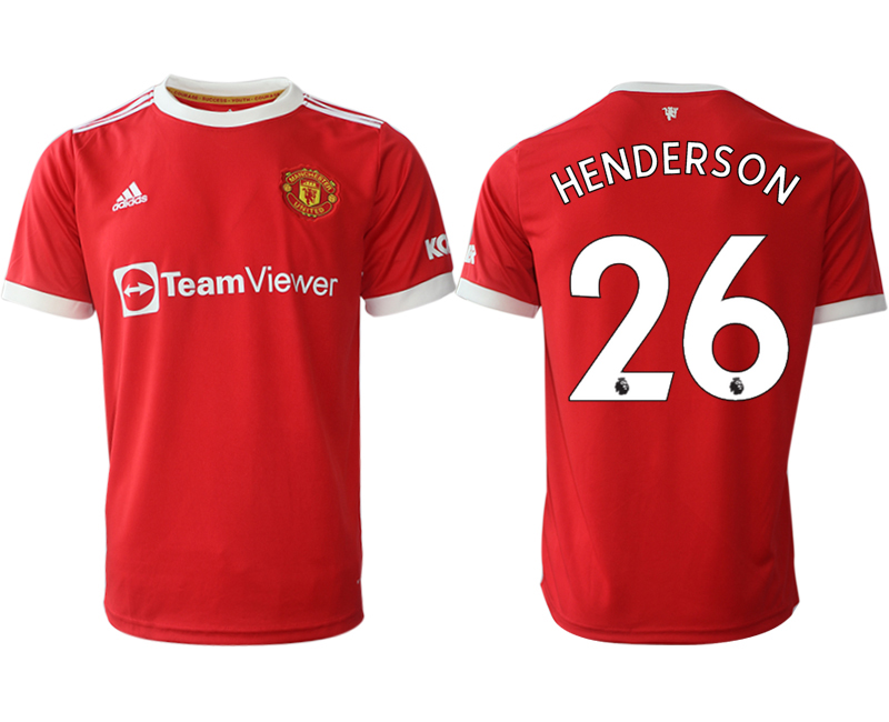 Men 2021-2022 Club Manchester United home red aaa version 26 Adidas Soccer Jersey