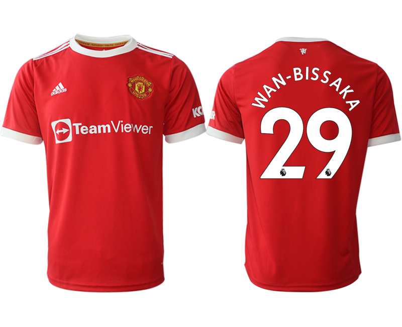 Men 2021-2022 Club Manchester United home red aaa version 29 Adidas Soccer Jersey