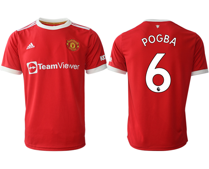 Men 2021-2022 Club Manchester United home red aaa version 6 Adidas Soccer Jersey