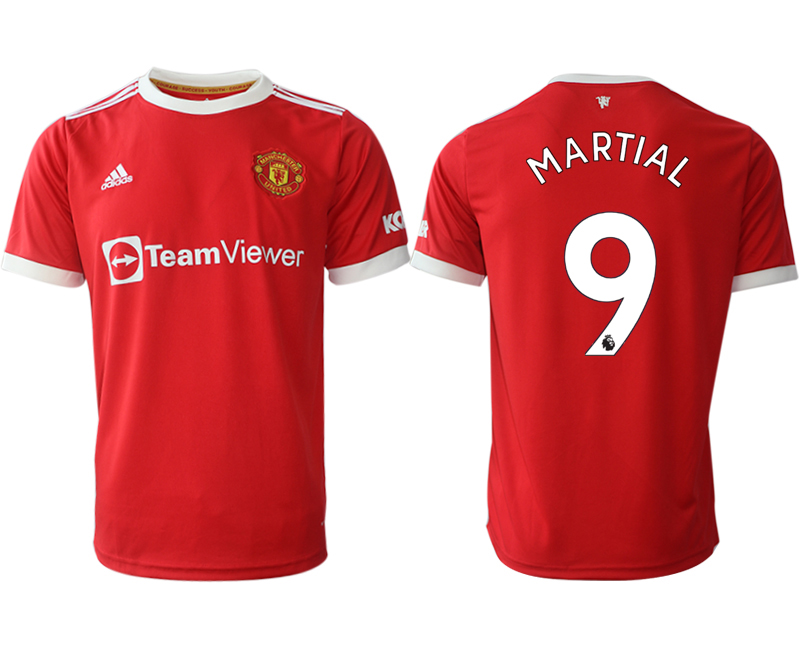 Men 2021-2022 Club Manchester United home red aaa version 9 Adidas Soccer Jersey