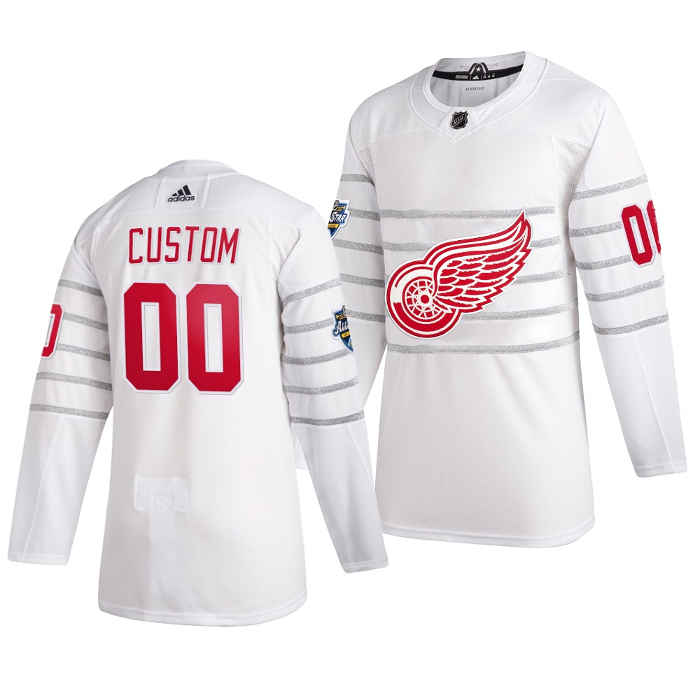 Men's 2020 NHL All-Star Game Detroit Red Wings Custom Authentic adidas White Jersey