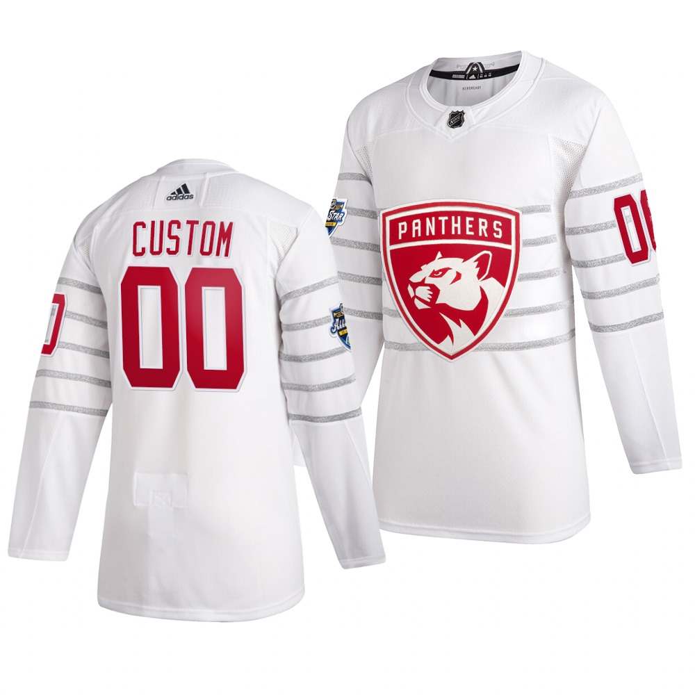 Men's 2020 NHL All-Star Game Florida Panthers Custom Authentic adidas White Jersey