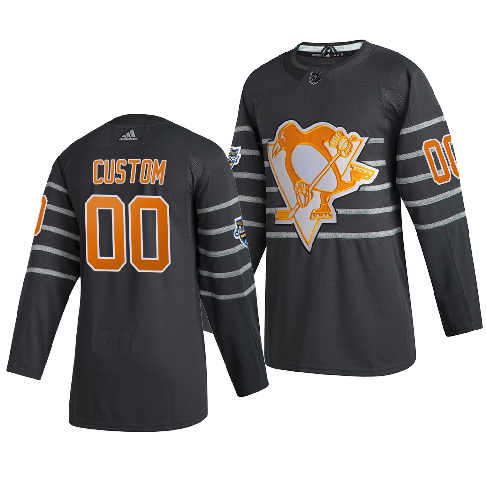 Men's 2020 NHL All-Star Game Pittsburgh Penguins Custom Authentic adidas Gray Jersey