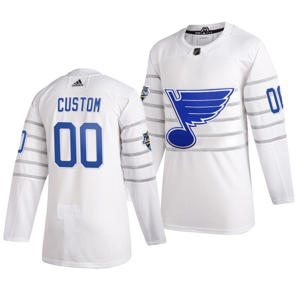 Men's 2020 NHL All-Star Game St. Louis Blues Custom Authentic adidas White Jersey
