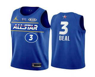 Men's 2021 All-Star Washington Wizards #3 Bradley Beal Blue Eastern Conference Stitched NBA Jersey