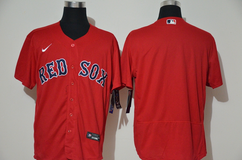 Men's Boston Red Sox Blank Red Stitched MLB Flex Base Nike Jersey