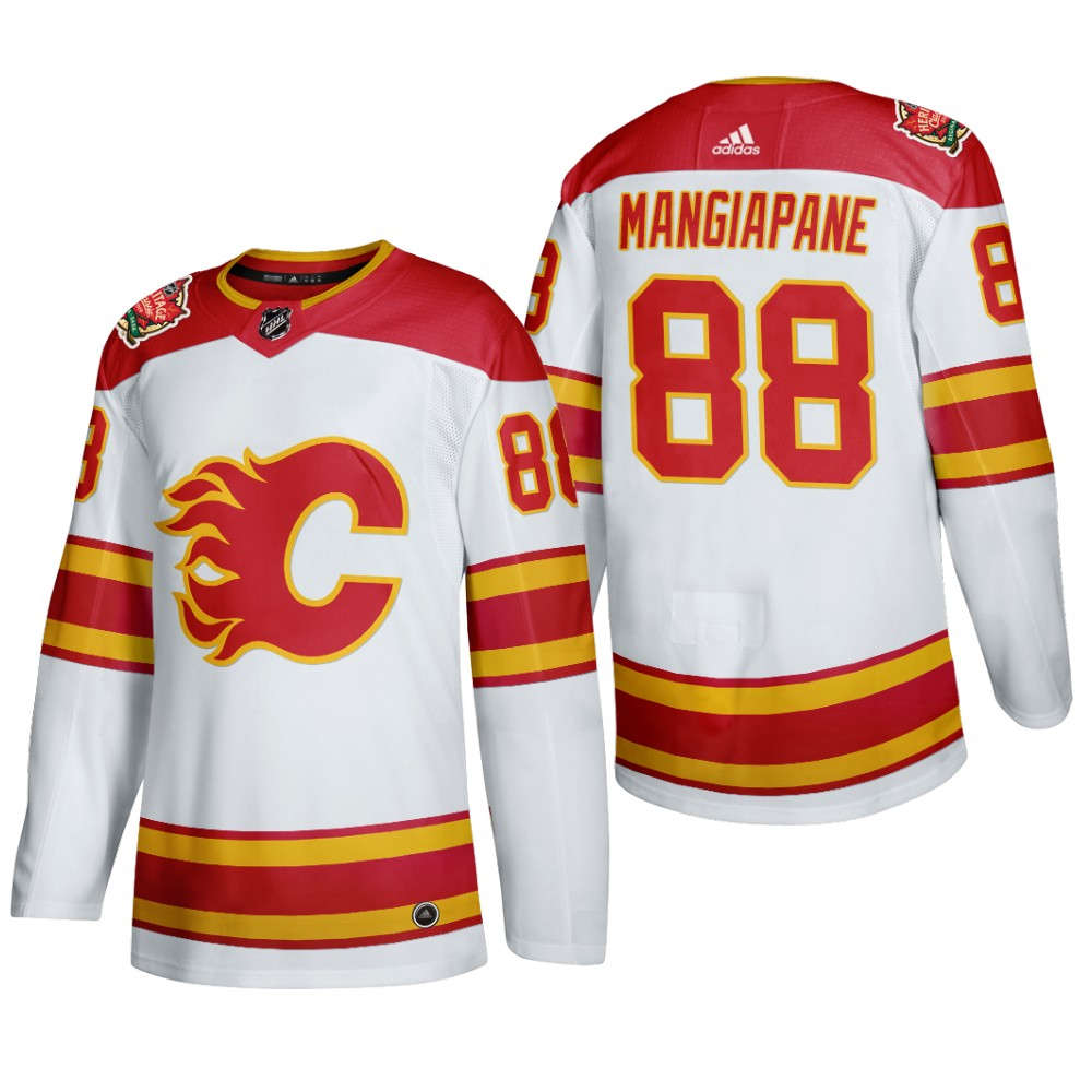 Men's Calgary Flames #88 Andrew Mangiapane Authentic 2019 Heritage Classic White Jersey