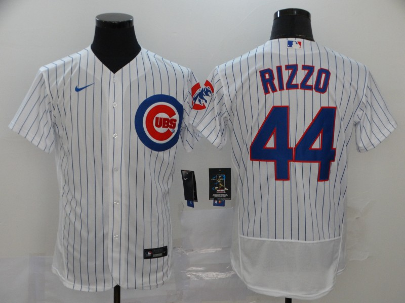 Men's Chicago Cubs #44 Anthony Rizzo White Home Stitched MLB Flex Base Nike Jersey