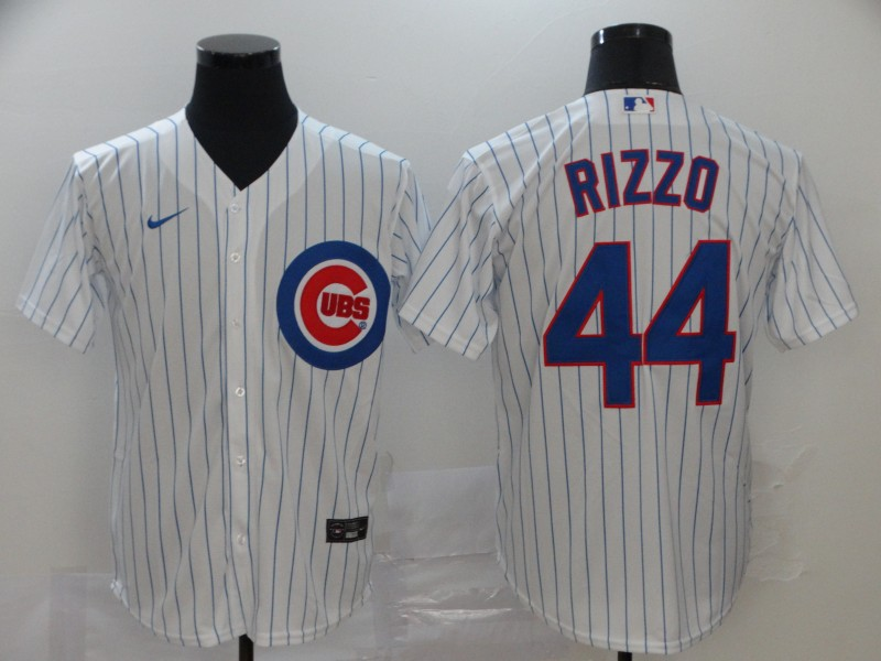 Men's Chicago Cubs #44 Anthony Rizzo White Stitched MLB Cool Base Nike Jersey