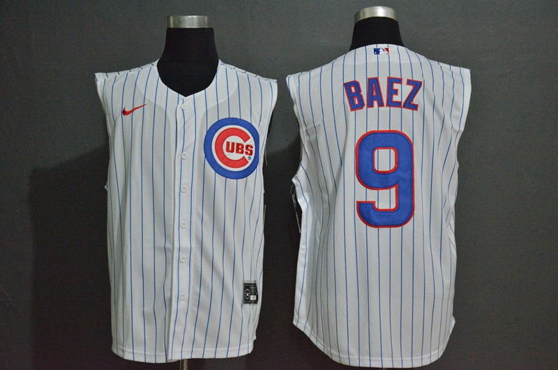 Men's Chicago Cubs #9 Javier Baez White 2020 Cool and Refreshing Sleeveless Fan Stitched MLB Nike Jersey