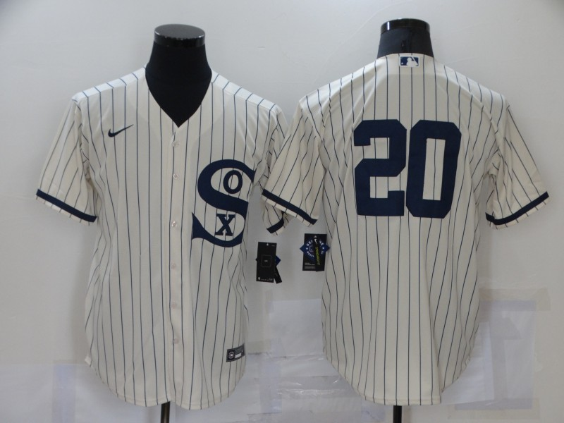 Men's Chicago White Sox #20 Danny Mendick 2021 Cream Field of Dreams Cool Base Stitched Nike Jersey