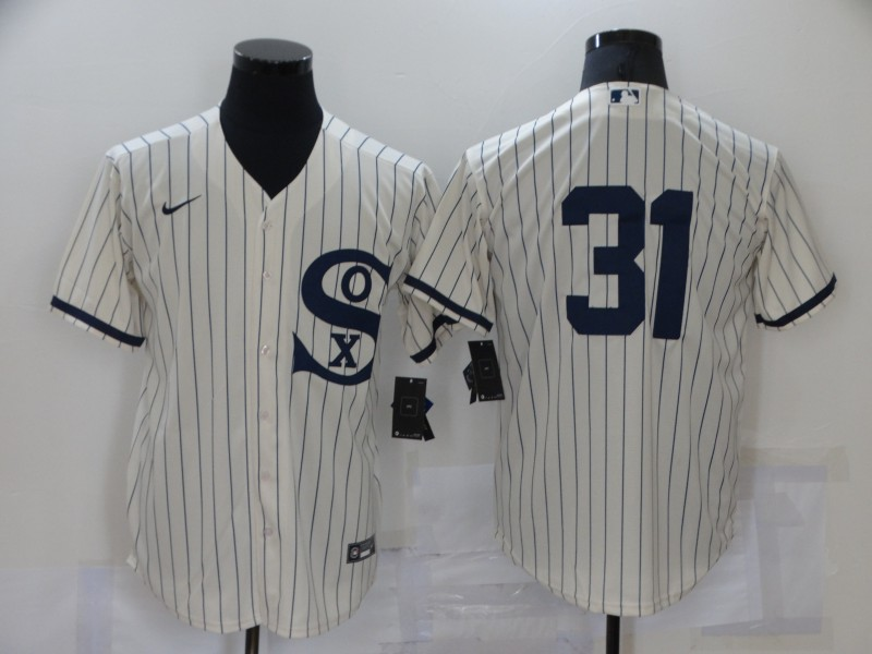 Men's Chicago White Sox #31 Liam Hendriks 2021 Cream Field of Dreams Cool Base Stitched Nike Jersey