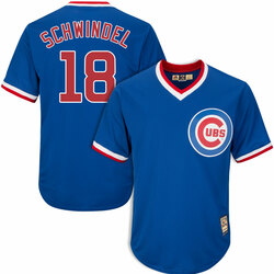 Men's Frank Schwindel Chicago Cubs #18 1994 Cooperstown Jersey by Majestic