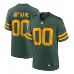 Men's Green Bay Packers Custom Green Yellow 2021 Vapor Untouchable Stitched NFL Nike Limited Jersey