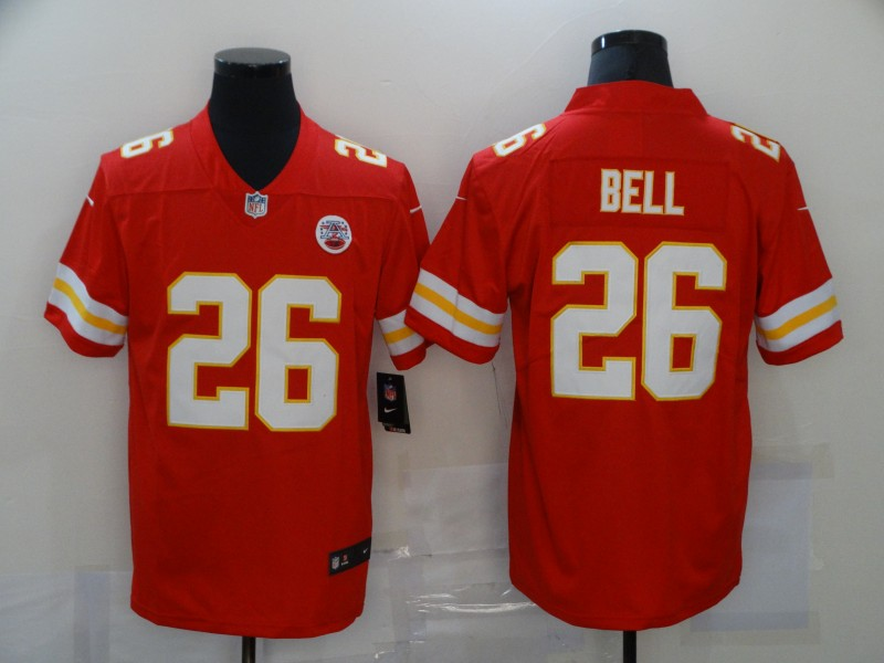 Men's Kansas City Chiefs #26 LeVeon Bell Red 2020 Vapor Untouchable Stitched NFL Nike Limited Jersey