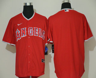 Men's Los Angeles Angels Blank Red Stitched MLB Cool Base Nike Jersey